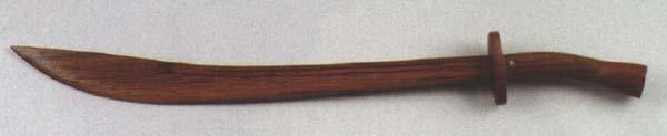Holzschwert braun